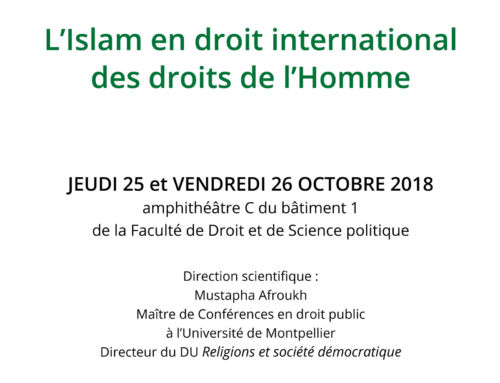 Colloque international « L'islam en droit international des droits de l'homme »