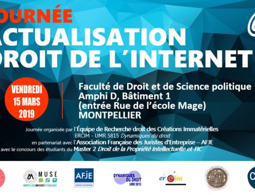 Journée d'études «Actualisation droit de l'internet»