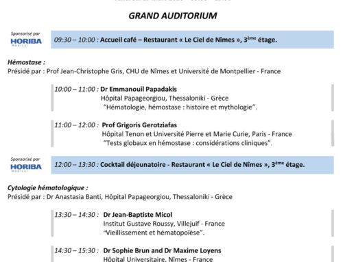 2nd symposium International d'Hématologie du CHU de Nîmes