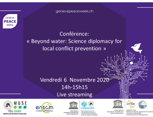 Conférence «Beyond water : Science diplomacy for local conflict prevention»